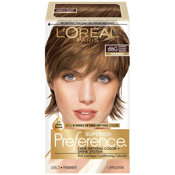 Superior Preference 6-1/2g Warmer Lightest Golden Brown Hair Color