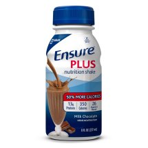Ensure Plus Nutrition Shake Milk Chocolate with 13 grams of protein, Meal Replacement Shakes, 8 fl oz Bottles (Pack of 6)