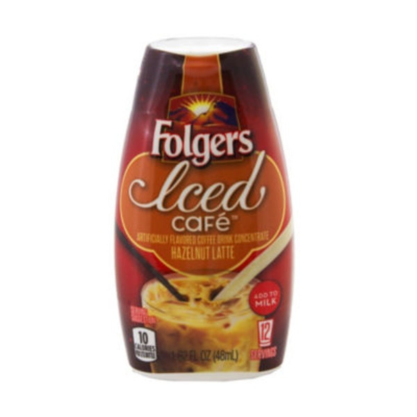 Folger's Hazelnut Iced Cafe Latte