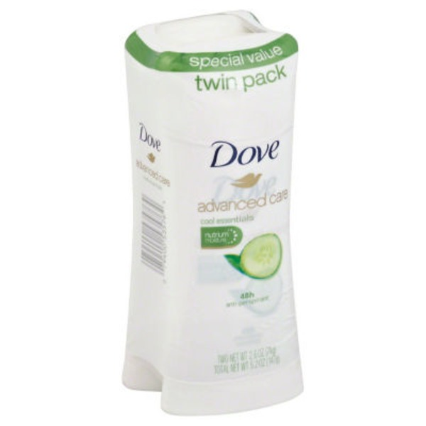 Dove Advanced Care Anti-Perspirant Cool Essentials - 2 PK