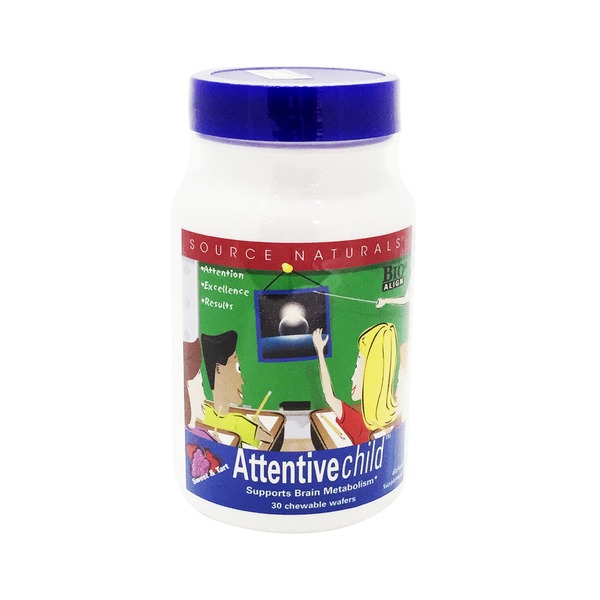 Source Naturals Attentive Child Chewable Wafers