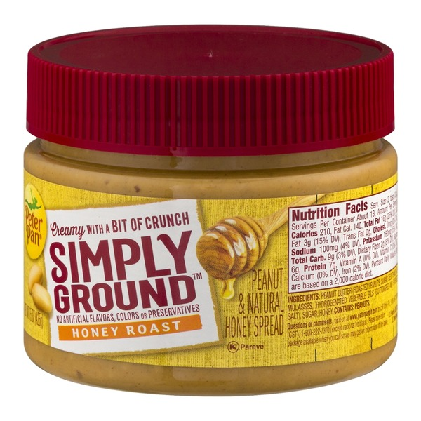 Peter Pan Simply Ground Honey Roast Peanut Spread