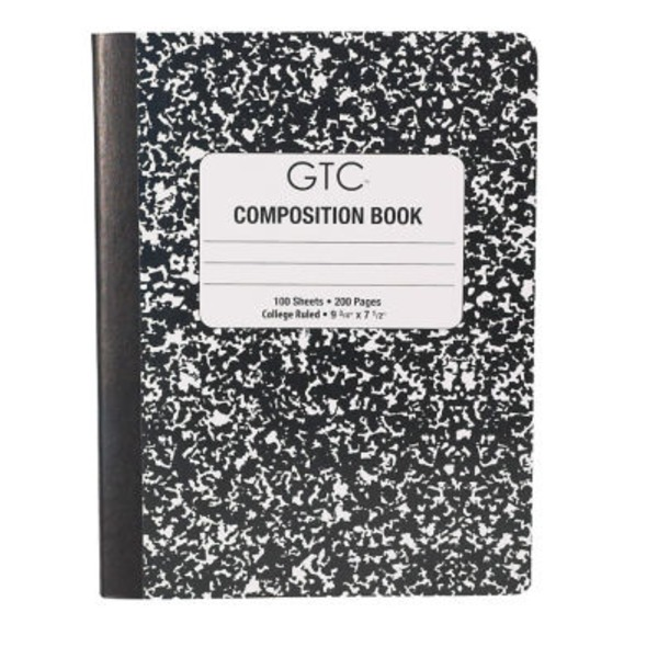 GTC Black Composition College Ruled Notebook 100 Sheets