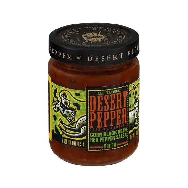 Desert Pepper Trading Company Authentic Corn Black Bean Red Pepper Salsa
