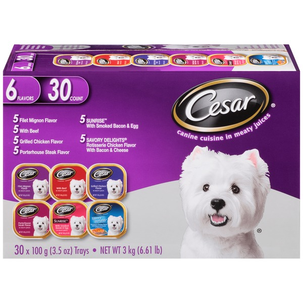 Costco Cesar Variety Pack Canine Cuisine In Meaty Juices Wet Dog