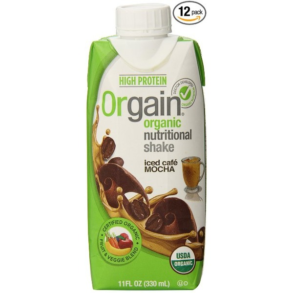 Orgain Meal Replace Drink Mocha 11 Oz