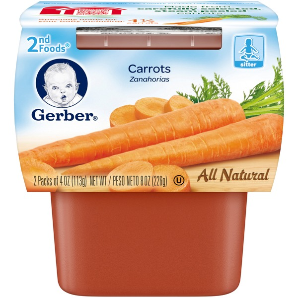 Gerber Foods Carrots 2nd Foods