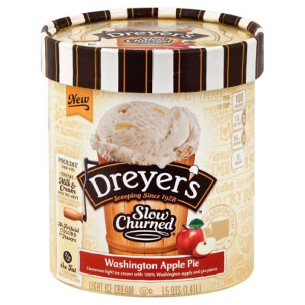 Dreyer's Washington Apple Pie Dreyer's/Edy's Slow Churned Light Ice Cream