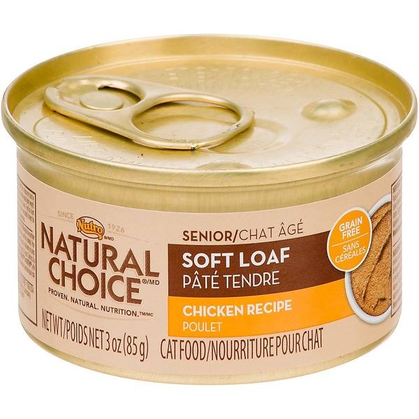 Nutro Natural Choice Soft Loaf Chicken Recipe Canned Senior Cat Food Case Of 24