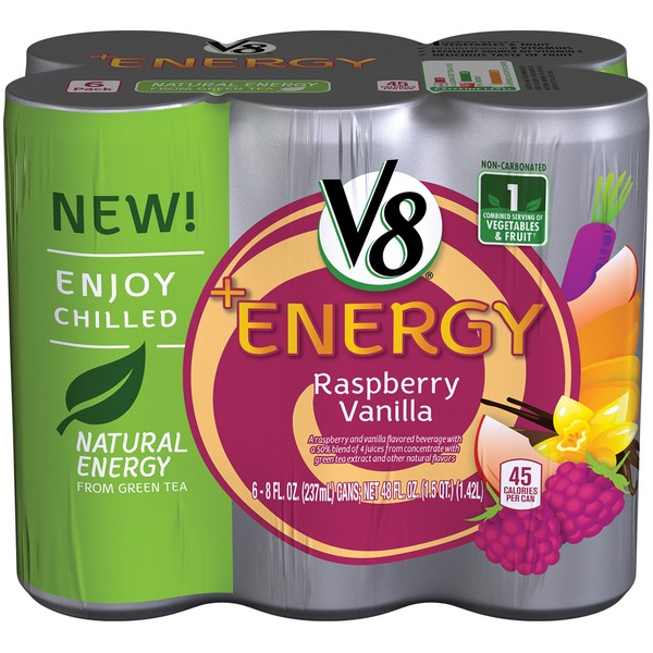 V8 +Energy Raspberry Vanilla Flavored Beverage