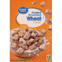 Great Value Frosted Shredded Wheat Cereal, 24 oz