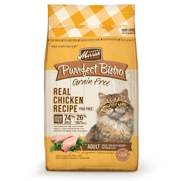 Merrick Purrfect Bistro Grain Free Healthy Real Chicken Recipe Adult Cat Food