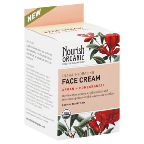 Nourish Organic Ultra Hydrating Argan & Pomegranate Face Cream