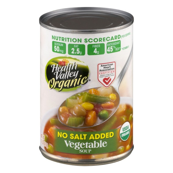 Health Valley Organic No Salt Added Vegetable Soup