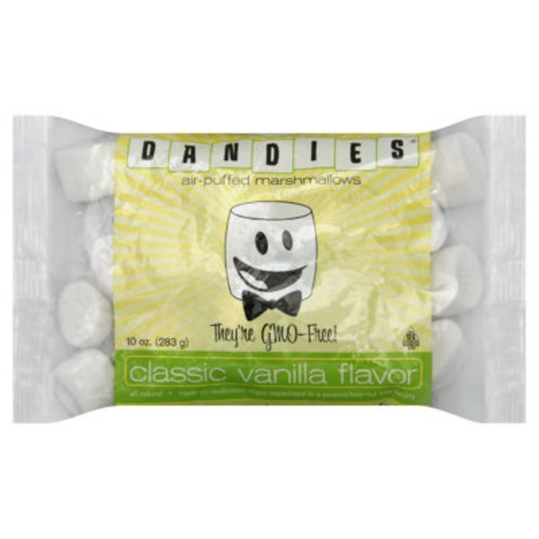 Dandies Air-Puffed Marshmallows Classic Vanilla Flavor