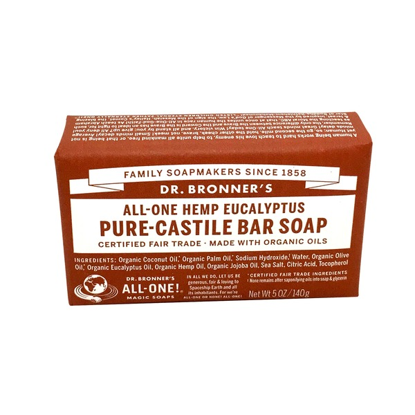 Dr. Bronner's Magic Soaps Eucalyptus Pure Castile Bar Soap