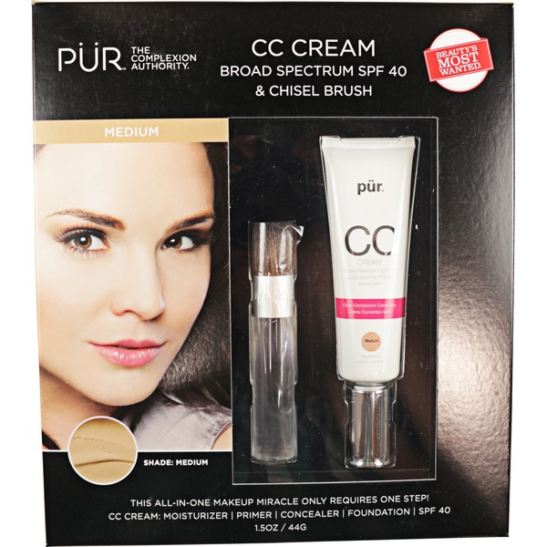 Pur Minerals Cc Cream Spf 40 With Brush Light And Medium