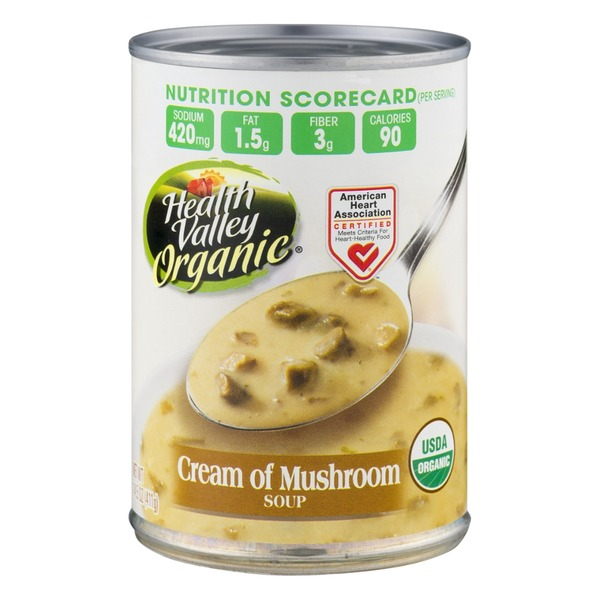 Health Valley Organic Cream of Mushroom Soup