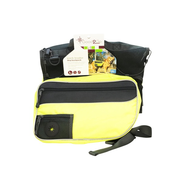 Good2 Go Pack Leader Dog Backpack Black/Yellow