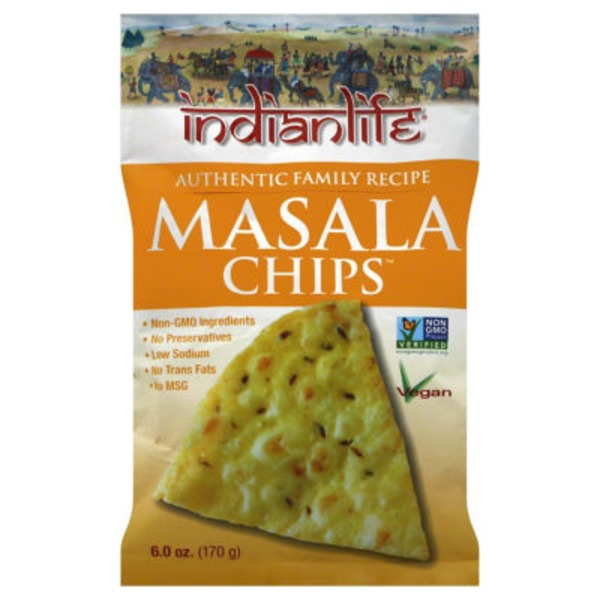 Indianlife Masala Chips, Vegan, Bag