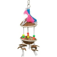 Prevue Tropical Teasers Tiki Hut Bird Toy