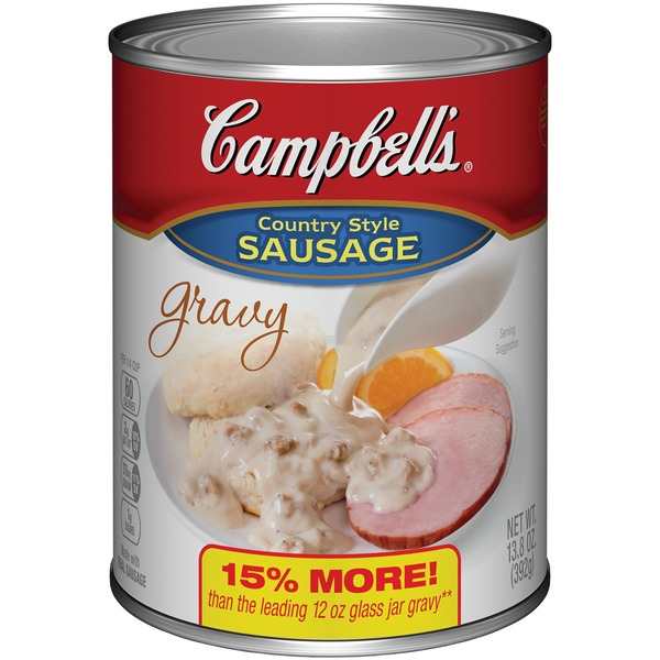 Campbell's Country Style Sausage Canned Gravy