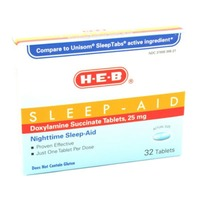 H-E-B Sleep Aid Doxylamine Succinate 25mg Tablets