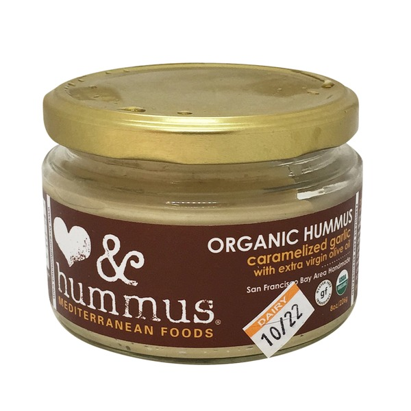 Love And Hummus Co Organic Garlic Caramelized Hummus
