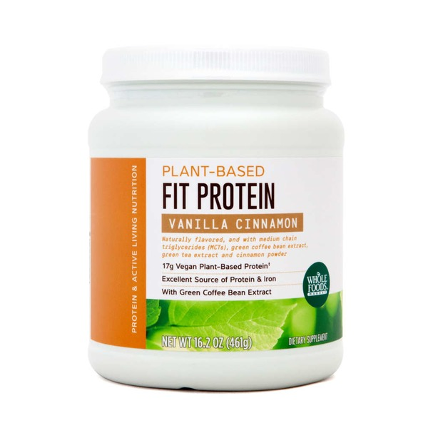Whole Foods Market Protein Plant Based Fit Protein  Vanilla Cinnamon