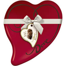 Dove Valentine's Premium Assorted Chocolates Heart Tin