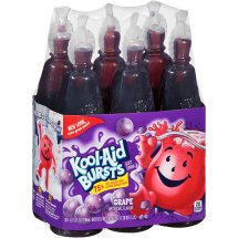 Kool-Aid Bursts Fruit Juice, Grape, 6.75 Fl Oz, 6 Count