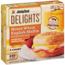 Jimmy Dean Delights Honey Wheat English Muffin Sandwiches, 4 count, 18 oz