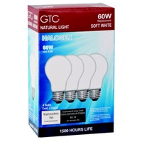 GTC 60 Watt Halogen Soft White Light Bulbs