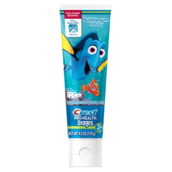 Crest Pro Health Stages Crest Pro-Health Stages Finding Dory Toothpaste - A Disney Bubblegum Flavor Gel Formula, 4.2 oz Dentifrice