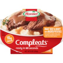 Hormel Roast Beef & Gravy with Mashed Potatoes Compleats 9 oz. Sleeve