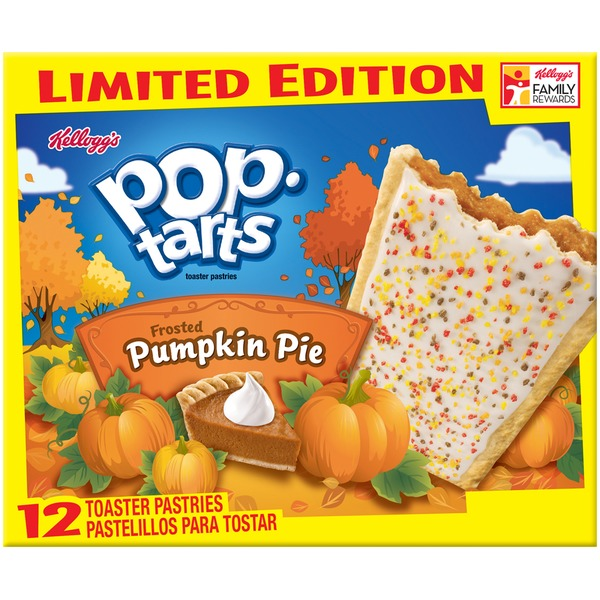 Kellogg's Pop-Tarts Frosted Pumpkin Pie Limited Edition Toaster Pastries