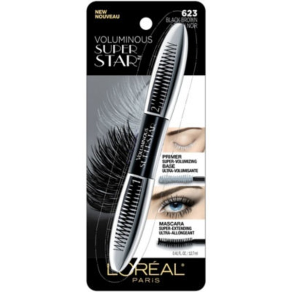 Voluminous 623 Black Brown WSH Superstar Mascara
