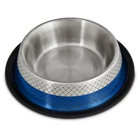 Harmony Blue Etched No Tip Stainless Steel Bowl Medium