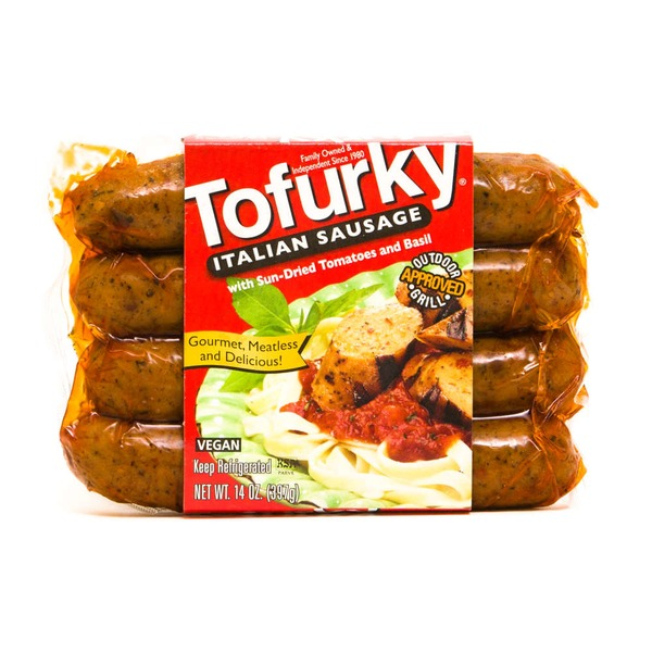 Tofurky Italian Sausage with Sun-Dried Tomatoes and Basil