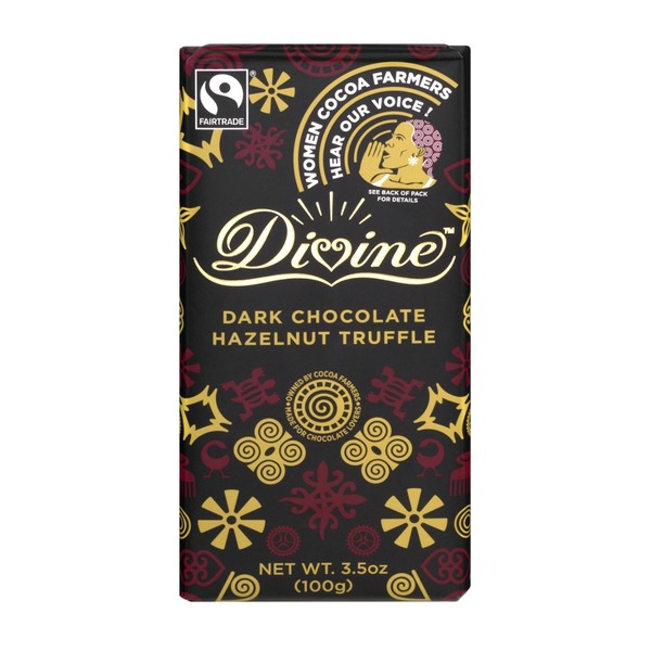 Divine Dark Chocolate Hazelnut Truffle