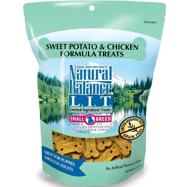 Natural Balance Sweet Potato and Chicken Formula Small Breed Dog Limited Ingredient Treats