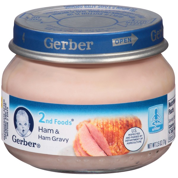 Gerber 2 Nd Foods Ham & Ham Gravy Baby Food