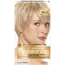 L'Oreal Paris Superior Preference Fade-Defying Color + Shine Hair Color, 9.5A Lightest Ash Blonde, 1 Kit