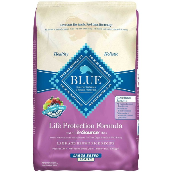 Blue Buffalo Life Protection Formula With Lifesource Bits Lamb & Brown Rice Recipe Large Breed Adult Dog Food