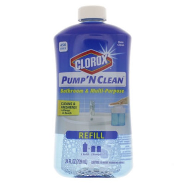 Clorox Pump 'N Clean Bathroom & Multi-Purpose Refill Clean Rain