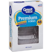 Great Value Premium Forks, 48 Count