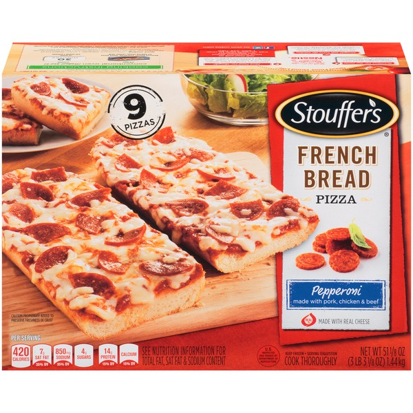 Stouffer's French Bread Pizza Made with Pork, Chicken & Beef Pepperoni French Bread Pizza