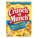Crunch 'n Munch Buttery Toffee Popcorn with Peanuts, 6 Ounce