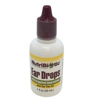 NutriBiotic Ear Drops with Grapefruit Seed Extract plus Tea Tree Oil