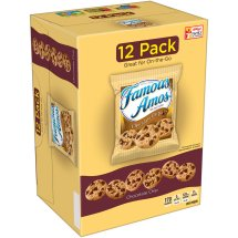 Famous Amos Chocolate Chip Bite Size Cookies, 1.2 oz, 12 count